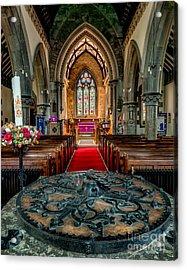 Church Font Acrylic Print by Adrian Evans