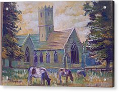 Acrylic Print featuring the painting Church In Adare by Paul Weerasekera
