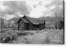Church In Black And White Acrylic Print by Kathleen Struckle