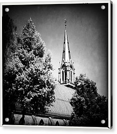 Church In Black And White Acrylic Print