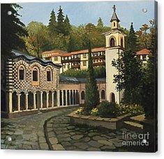 Church In Blagoevgrad Acrylic Print by Kiril Stanchev