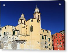 Acrylic Print featuring the photograph Church In Camogli by Antonio Scarpi