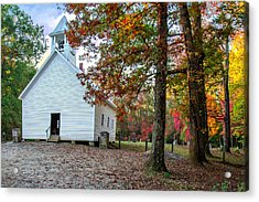 Church In Fall Acrylic Print