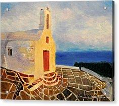 Church In Ios Greece Acrylic Print
