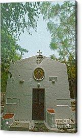 Church In Kos Acrylic Print by Nur Roy