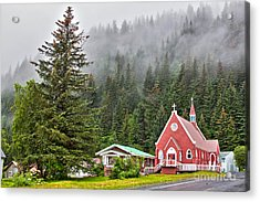 Church In Seward Alaska Acrylic Print
