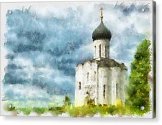Church In Summer Acrylic Print