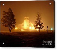 Church In The Fog Acrylic Print