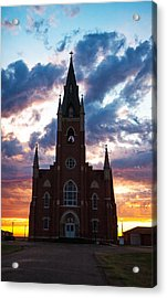 Acrylic Print featuring the photograph Silouette Of Faith by Shirley Heier