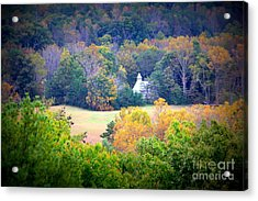 Cades Cove Church In The Woods Acrylic Print