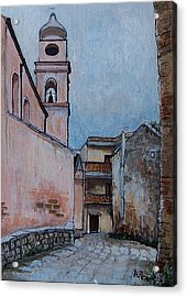 Church In Tursi Acrylic Print by Anne Parker