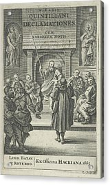 Church Interior With Clergy, Reinier Van Persijn Acrylic Print by Reinier Van Persijn And Franciscus Hackius