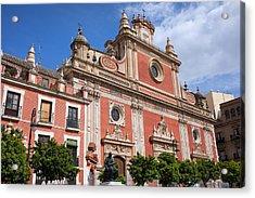 Church Of El Salvador In Seville Acrylic Print by Artur Bogacki