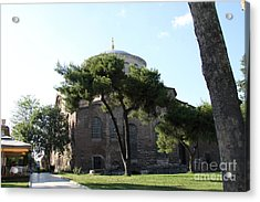 Church Of Hagia Eirene I - First Courtyard Topkapi Palace Acrylic Print by Christiane Schulze Art And Photography
