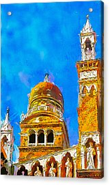 Acrylic Print featuring the painting Church Of Madonna Dell'orto by Greg Collins