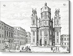 Church Of Notre Dame, Salzburg Acrylic Print