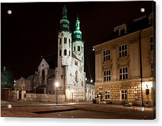 Church Of St. Andrew At Night In Krakow Acrylic Print by Artur Bogacki