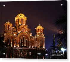 Church Of Sveti Marko Acrylic Print by Zoran Berdjan