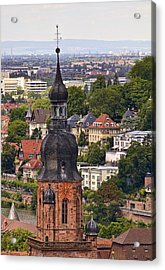 Church Of The Holy Spirit Steeple Acrylic Print by Marcia Colelli