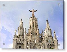 Church Of The Sacred Heart Tibidabo Barcelona  Acrylic Print