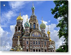 Church Of The Spilled Blood - St Petersburg Russia Acrylic Print