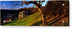 Church On A Landscape, Rievaulx Abbey Acrylic Print by Panoramic Images