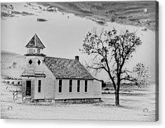 Church On The Plains Acrylic Print by Marty Koch