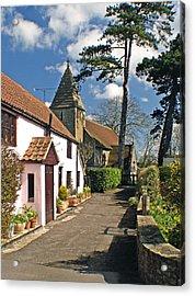 Church Path - Kenn - Somerset Acrylic Print by Rachel Down