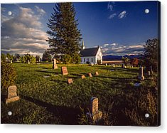 Church Potlatch Idaho 1 Acrylic Print by Mike Penney