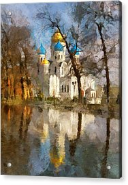 Church Reflection 2 Acrylic Print