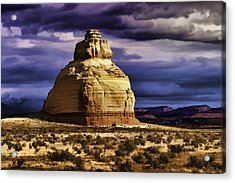 Acrylic Print featuring the painting Church Rock  by Muhie Kanawati