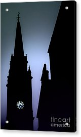 Church Spire At Dusk Acrylic Print