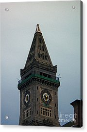 Acrylic Print featuring the photograph Church Steeple In Boston by Gena Weiser