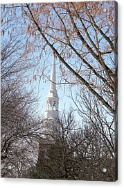 Church Steeple Acrylic Print by Teresa Schomig