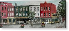 Pennsylvania - Church Street In Montrose Acrylic Print