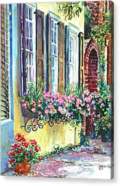 Church Street Textures Acrylic Print by Alice Grimsley