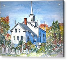 Church Vermont Acrylic Print by Anthony Butera