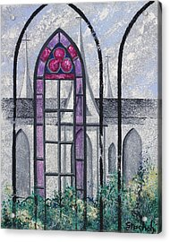 Acrylic Print featuring the painting Church Window by Artists With Autism Inc