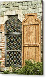 Acrylic Print featuring the photograph Church Window - Liberia Antigua by Gary Slawsky