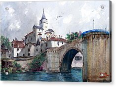 Church With A Bridge Acrylic Print