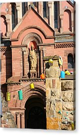 Church With Party Lanterns Acrylic Print