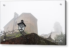 Churches In The Fog Acrylic Print