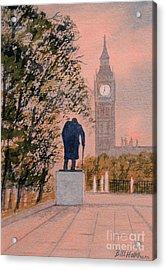 Churchill And Big Ben Acrylic Print