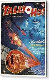 Churchill's Death Ray Acrylic Print by Alex Tomlinson