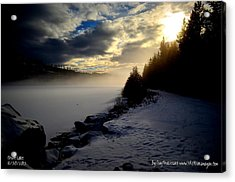 Acrylic Print featuring the photograph Chute Lake Winter by Guy Hoffman