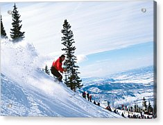 Chute One Acrylic Print by Chris Selby