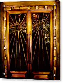 Cicada Club Doors Acrylic Print by Joseph Hollingsworth