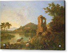 Ciceros Villa Oil On Canvas Acrylic Print by Richard Wilson
