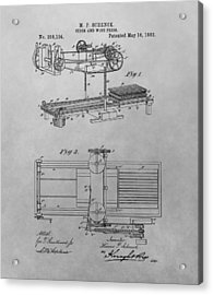 Cider And Wine Press Patent Drawing Acrylic Print