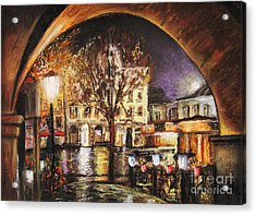 Cieszyn At Night Acrylic Print
